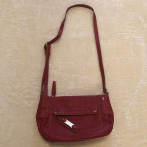 Nine West Red Leather Small Crossbody Bag